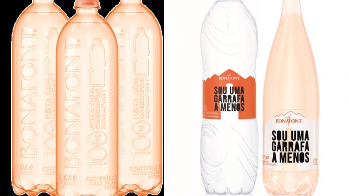 Bonafont cria garrafas de 1L sem rótulos e quer produção sustentável